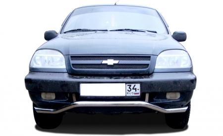 CHEVROLET   Niva 2002-2009  Защита переднего бампера «волна»  60